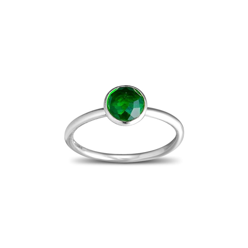 CKK 925 Ayar Gümüş Olabilir Damlacık, kraliyet-Yeşil Kristal - Takı - Fotoğraf 4