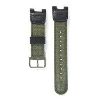 Военный Зеленый нейлон + кожа Ремешки для наручных часов водостойкий ремешок Замена для casio SGW-100 аксессуары для вождения спортивные часы