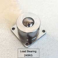 1X Heavy Duty Universal Ball Universal Cattle Eye Bearings Conveying Ball With Flange Side Load Bearing