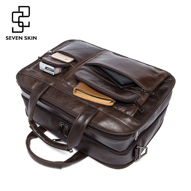 Top Brand Genuine Leather Men Bags Fashion Man Crossbody Shoulder Handbag Men Messenger Bag Male Briefcase Men's Travel Bag Tote qiao bao man bag 2017 new famous brand high quality fashion men top leather crossbody bag male messeng bags for man