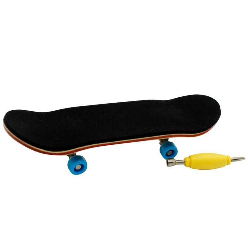 Bearing Wheels Skid Pad Wood Finger Skateboard Alloy Stent Wheel Fingerboard Toy