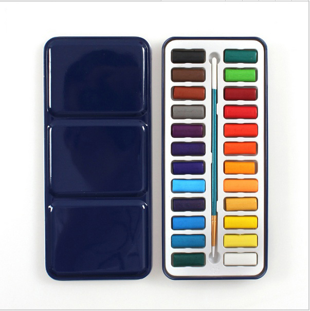 12/18/24 Colors Professional Solid Watercolor Paints Painting Set For Artist Student Drawing Painting Stationery Art Supplies