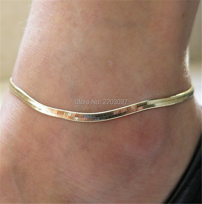 1PC Fashion Metal font b Fine b font Fish Scale Anklet Chain font b Fine b