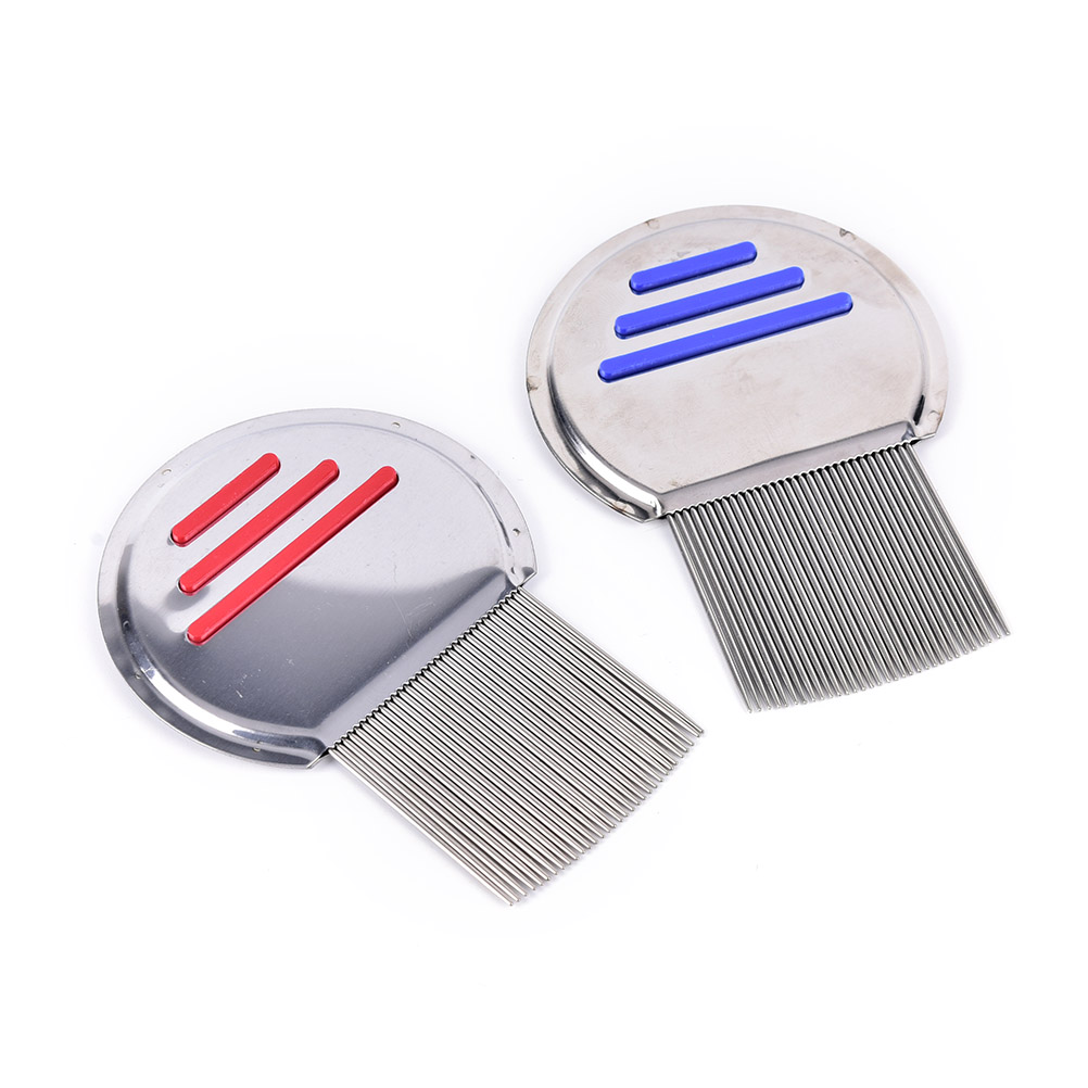 1PC Stainless Steel Terminator Lice Comb Nit Free Kids Hair Rid Headlice Super Density Teeth Remove Nits Comb