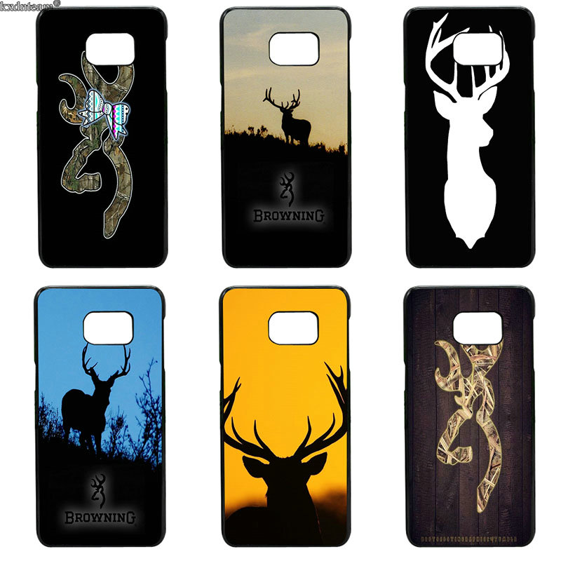 Hard PC Cover Browning Hunting Deer Head Phone Cases for Samsung Galaxy S8 S9 Plus S2 S3 S4 S5 Mini S7 S6 Edge Plus Active Shell