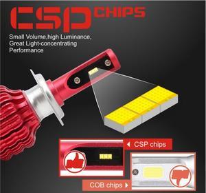 Image 5 - CarTnT 2Pcs LED H7 H4 H11 H1 H3 9005 9006 HB4 HB3 5202 Led lampe Canbus Auto Scheinwerfer Hallo  Lo 100W 12000LM 6500K 24V Führte Nebel Lampe