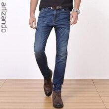 Artizando Jeans Men Denim Jeans Classic Basic Style Male Slim 2017 Men's Long Pants Trousers Elastic Breathable Plus Size