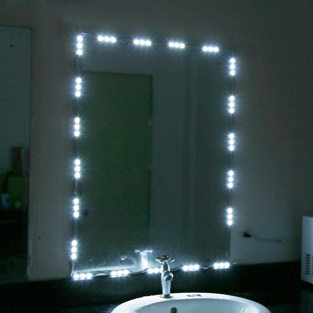 mirror lighting strips. 5ft10ft 12v led white dressing mirror lighting string kit cosmetic makeup vanity light strips