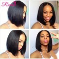 Short Bob Front Lace Wigs For Black Women 8A Virgin Brazilian Lace Front Upart Wig Human Hair Bob Wigs 130% High Density Wig