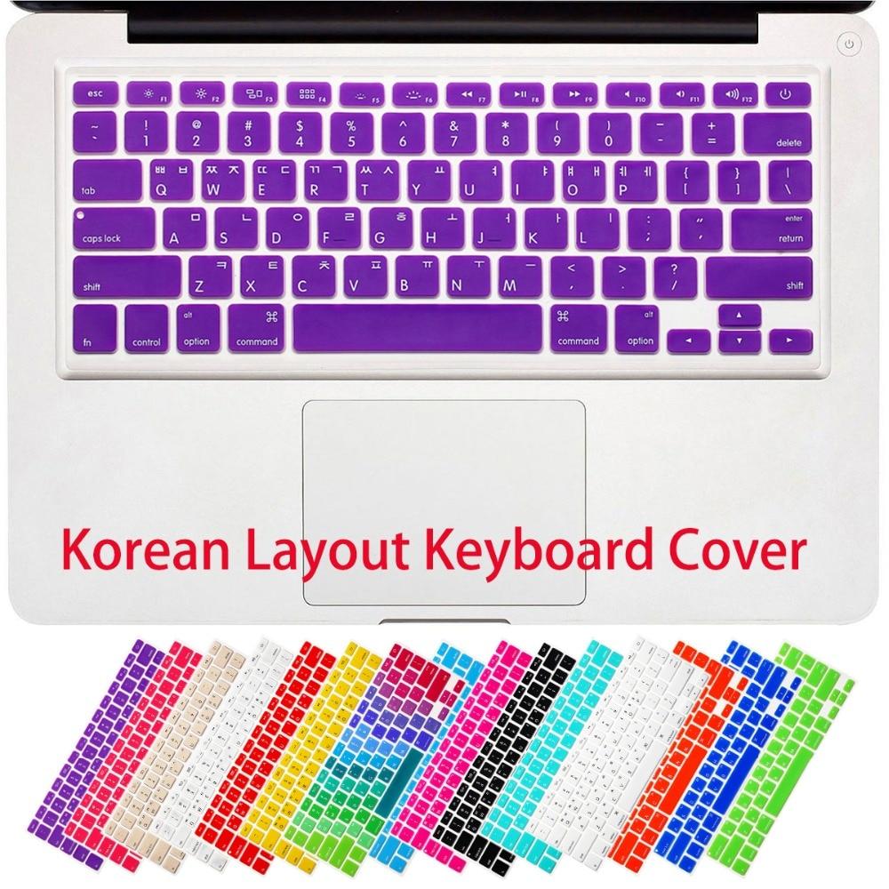 RYGOU koreai betűk billentyűzetfedél MacBook Air 13 Pro 13 15 17 - Laptop kiegészítők - Fénykép 3
