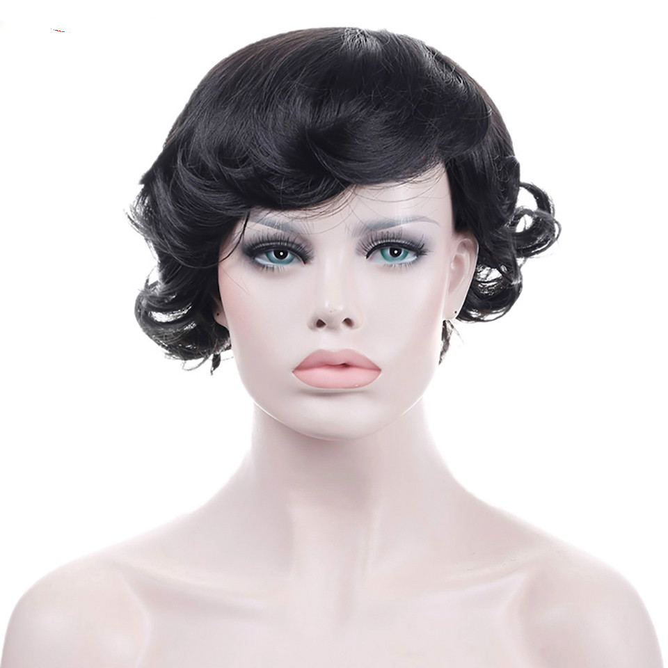 WTB African American Natural Fake Hairpieces Synthetic Women 's Hair Heat Resistant Wig