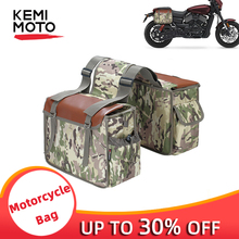 Motorcycle Bags Motorcycle 600D oxford Tool Bag Saddlebags Travel Knight Rider Desert Camouflage For Sportster For Kawasaki 1000 недорого