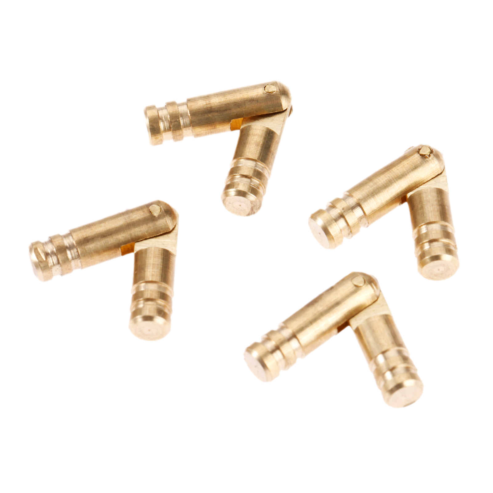 4Pcs Pure Gold Brass Copper Invisible Concealed Barrel Hinge for Wine Jewelry Box Hidden Barrel Hinge Finely Machined Mechanisms in Cabinet Hinges from Home Improvement