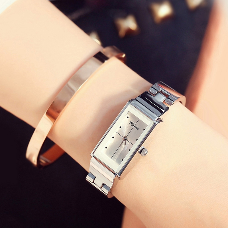 Kimio Brand Clock Women Stainless Steel WristWatches Simple Luxury Quartz Watch Waterproof Ladies Dress Watch relogio feminino famous brand jw bracelet watch clock women luxury silver stainless steel casual analog wristwatches ladies dress quartz watch