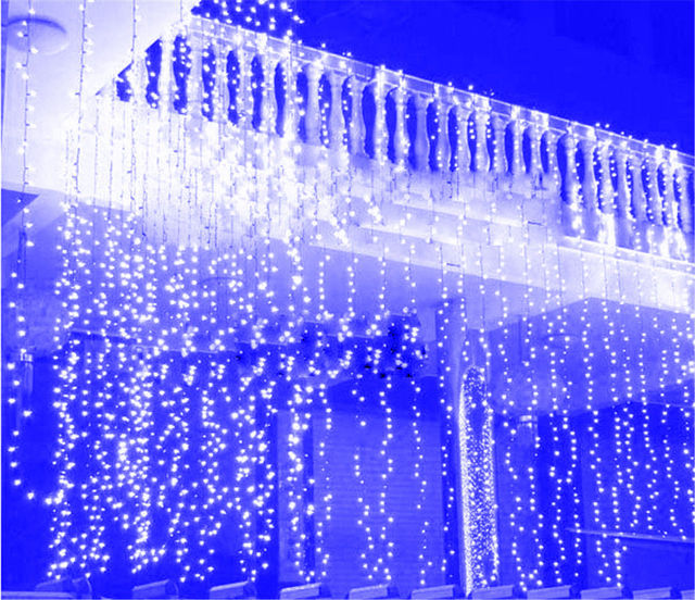 6m4m LED Twinkle Lighting 760 String Fairy Lights Wedding Curtain Background Outdoor Party