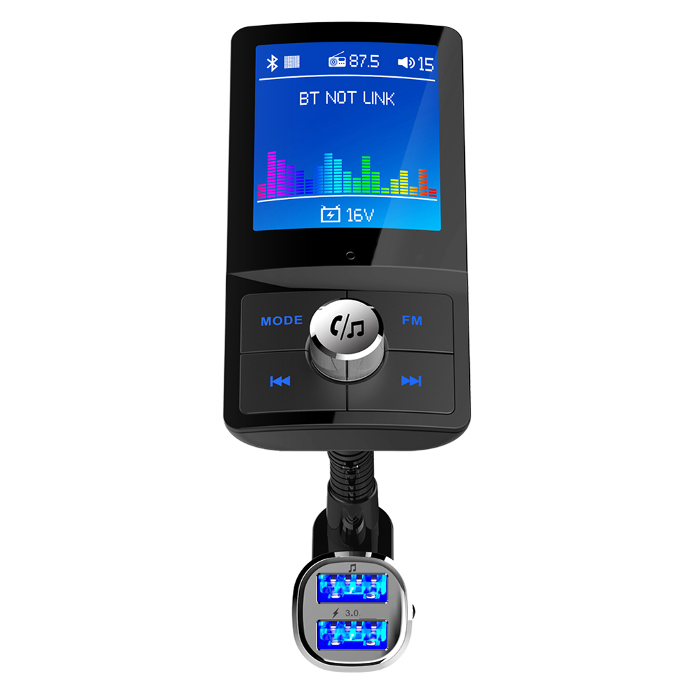 Universal Car USB Fast Charge 3.0 Car Kit FM Transmitter Mp3 Player LCD Car FM Modulator LCD Color Display-in Car Chargers from Cellphones & Telecommunications on AliExpress - 11.11_Double 11_Singles' Day 1