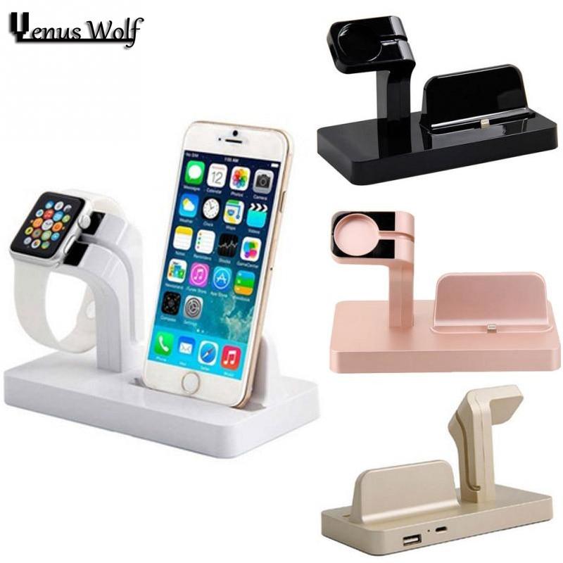 Цена за Для iPhone 7 Зарядное устройство зарядки док-станция для iPhone 6 6 S 7 7 Plus SE 5 5S SE 6 S плюс 6 плюс зарядки для Apple Watch 42 мм 38 мм