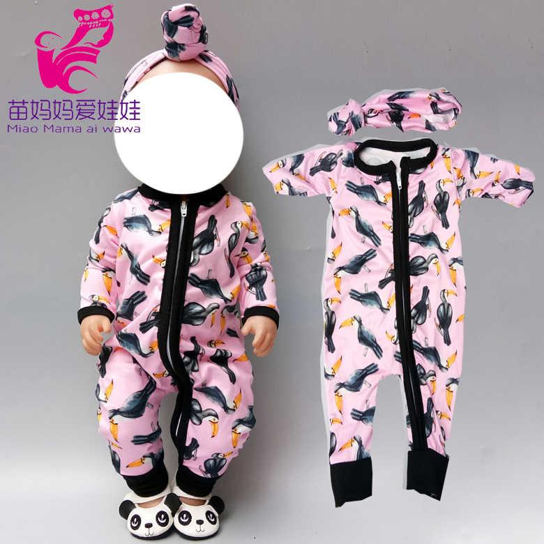 40 cm new born baby Doll roupas conjunto macacão pijama baby doll set para 18 polegada 45 centímetros bonecas roupas macacão