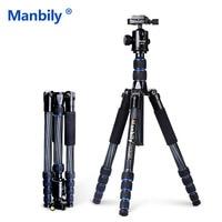 Manbily CZ302 Professional Compact Carbon Fiber Tripod Monopod & Ball Head For DSLR Camera / Portable Travel Tripod Camera Stand