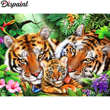 Dispaint Full Square/Round Drill 5D DIY Diamond Painting Animal tiger flower 3D Embroidery Cross Stitch Home Decor Gift A10091 dispaint full square round drill 5d diy diamond painting animal tiger sceneryembroidery cross stitch 3d home decor gift a11463