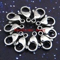Hot Sell 100pcs DIY 316L Stainless Steel Silver Findings Lobster Clasp Mens Nacklace Bracelet 9 10
