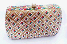 Free shipping!! Cheap crystal clutch bag for women G20495