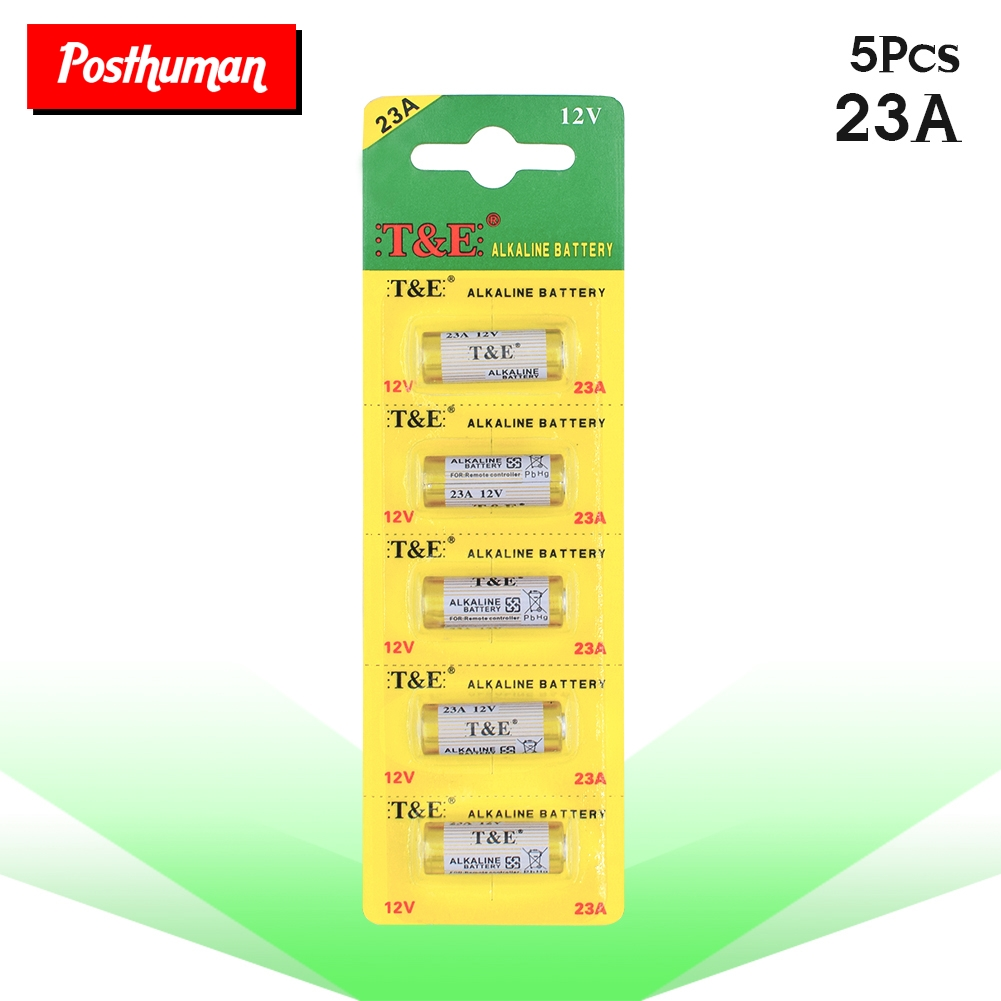 POSTHUMAN 5pcs 12v A23 23A 23AE E23A V23GA MN21 GP23A LRV08 8F10R 8LR23 8LR923 CA20 K23A Battery Primary Dry Batteries Cells