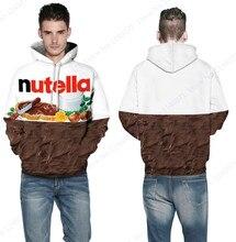 Nutella sudadera шоколад кофты hombre пуловеры хип-хоп скейтборд письмо толстовки капюшоном