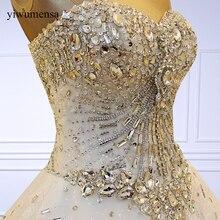 Yiwumensa роскошное высококачественное кружевное свадебное платье с кристаллами и бисером, свадебное платье принцессы с вышивкой, свадебное платье es