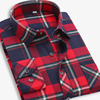 EYM Brand Flannel Plaid Shirt Men Cotton 2018 Autumn New Male Casual Long Sleeve Shirt Plus