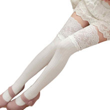 cd1110ef90def MUQGEW cuisse haute chaussettes pour filles longues chaussettes femmes  au-dessus du genou femmes fille hiver au-dessus du genou .