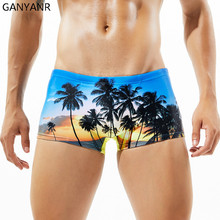 GANYANR Brand Swimming Trunks Men Swimwear Sexy Plus Size Boxers Swimsuit Gay Bathing Suit Bulge Briefs Swim Shorts Beachwear