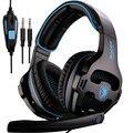 Alta Calidad Sades SA-810 Auriculares de Juegos de Luz de Respiración 7.1 Sonido Juego de Auriculares y Micrófono Auriculares Fone De Ouvido Casque PC Gamer