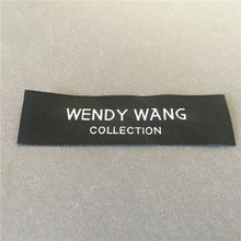 Factory Price Customized Private Brand Name Logo Clothing Woven Labels High Density Label