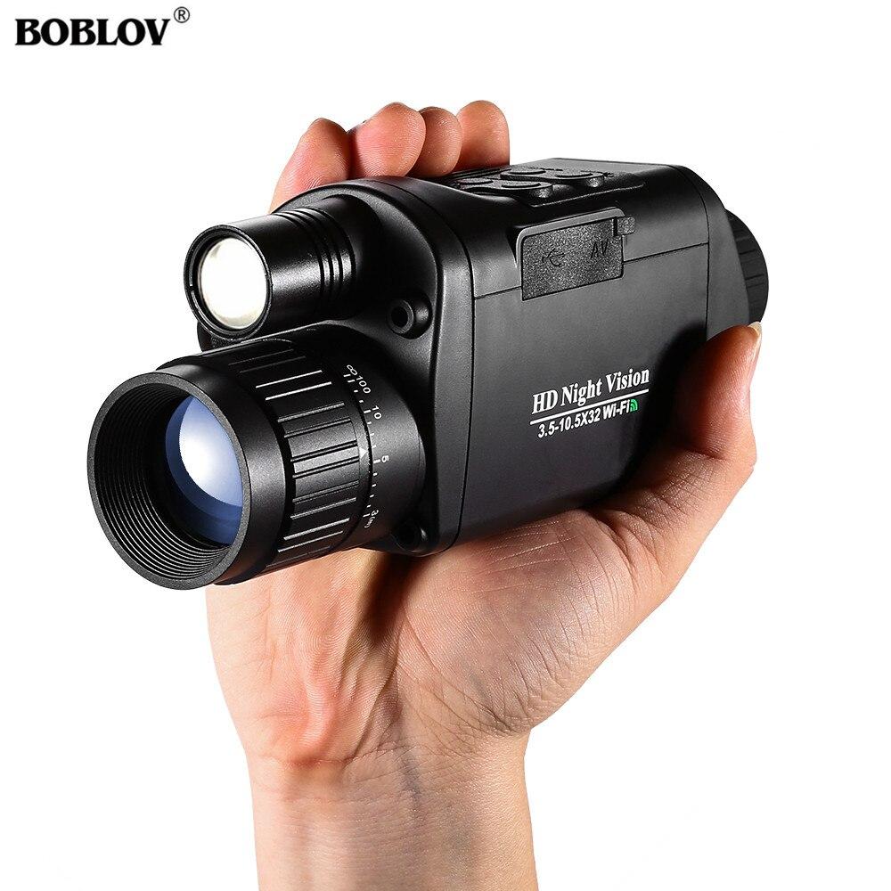 BOBLOV монокуляр ночного видения инфракрасная камера ночного видения военный цифровой Монокуляр телескоп ночного охоты навигационное устройство-in Ночное видение from Спорт и развлечения