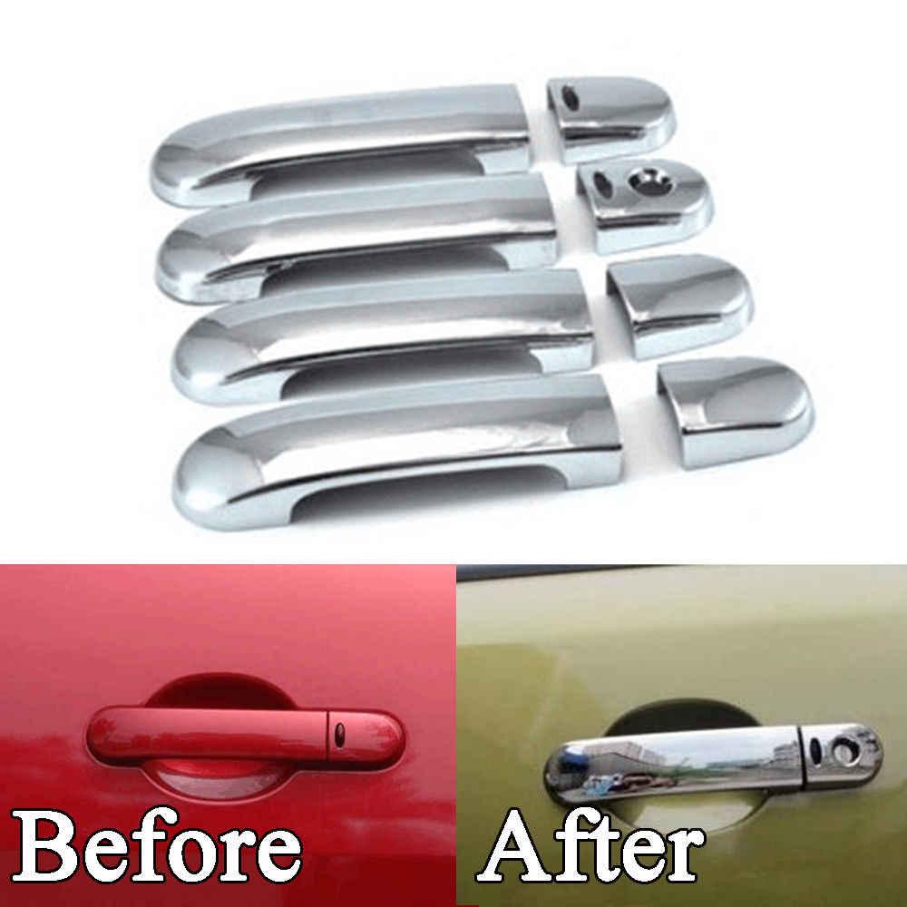 Bbq Fuka New Car Accessories Fit For Nissan Versa Tiida Latio 2007 2008 2009 2010 2011 Chrome Door Handle Cover Trim Smart Hole Aliexpress