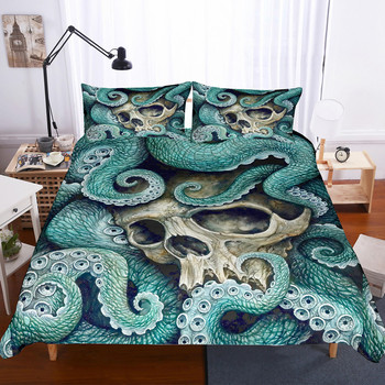 fanaijia sugar skull 3d bedding sets luxury octopus skull duvet cover bed set bedclothes king size bedline comforter set