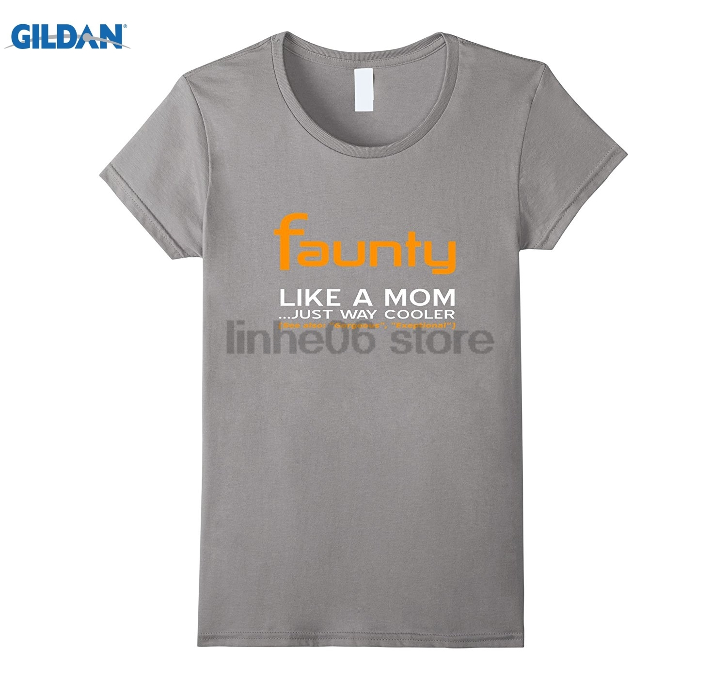 GILDAN Funny Aunty Faunty Definition and Halloween T-Shirt dress T-shirt