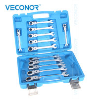 Veconor 8 9 10 11 12 13 14 15 16 17 18 19mm Ratchet Wrench Set