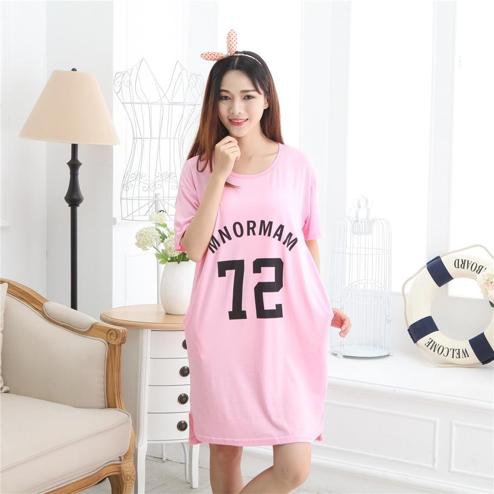 Foply Fashion New Nightgowns For Women Long Cartoon Girls Nightwear ...