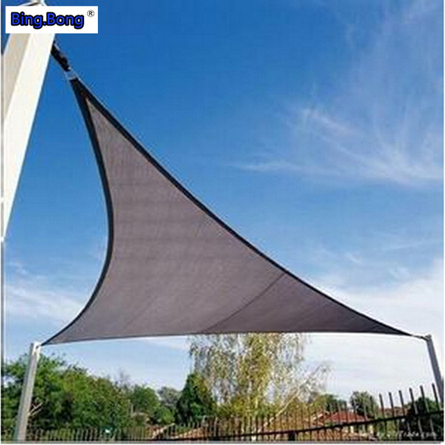 UV Sun Shade Sail HDPE Triangles awning outdoor sun shading net 3*3*3m : triangle canopy outdoor - memphite.com