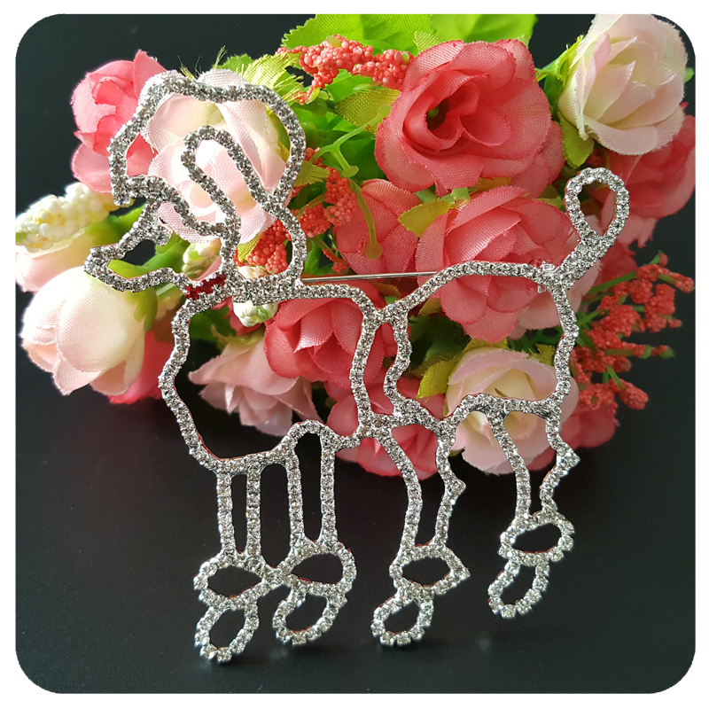 Fantastic Blingbling Crystal Poodle Brooch Pin Jewelry Gift in Brooches from Jewelry Accessories
