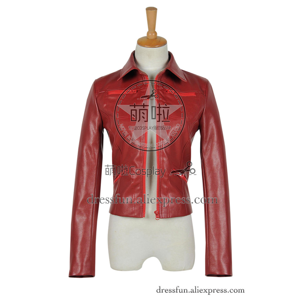 Once Upon A Time Cosplay Emma Swan Costume Red Leather Jacket Uniform Outfits Suit Halloween Fashion Party Fast Shipping