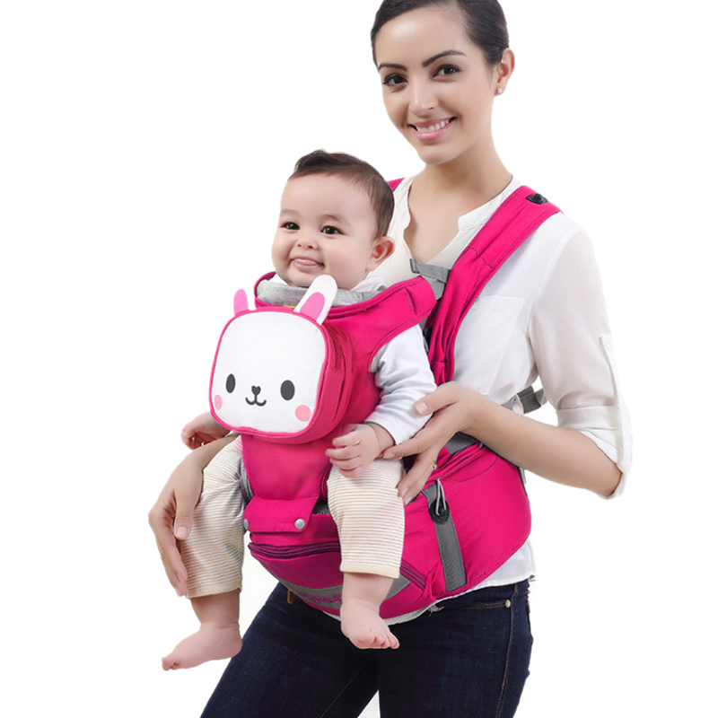 Animal style 0-30 Months Breathable Front Facing Baby Carrier 4 in 1 Infant Comfortable Sling Backpack Pouch Wrap Baby Kangaroo 2016 four position 360 baby carrier multifunction breathable infant carrier backpack kid carriage toddler sling wrap suspenders