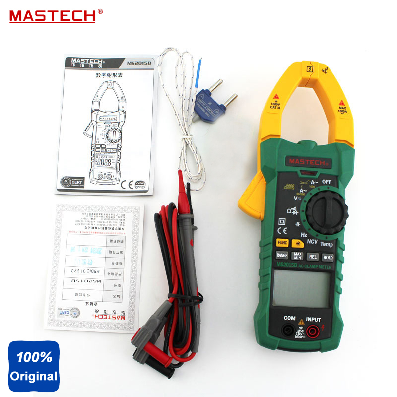 Mastech MS2015B Digital Clamp On Meter Frequency Resistance Capacitance Multimeter