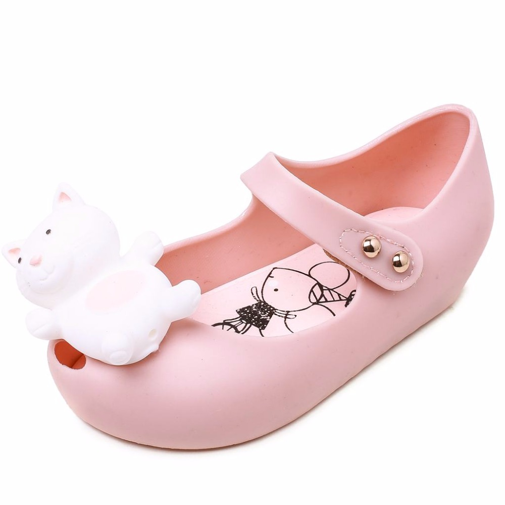Melissa Jelly Sandals Princess Sandals New Summer Girl Fish Mouth Kids Sandals Comfortable Shoes Melissa Shoes 13-18CM
