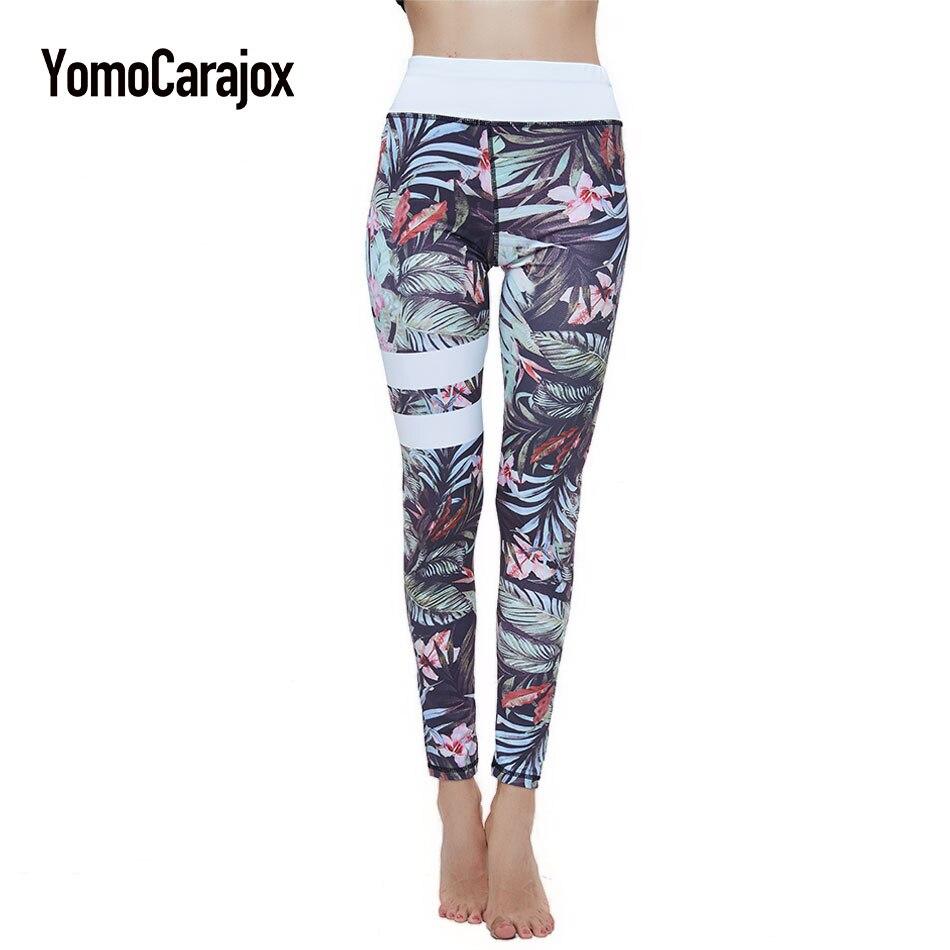 Women's Sportwear yuga Leggins Polyester Sporting High Waist Fitness Legging Push Up Pants Elastic Workout Leggings For Women