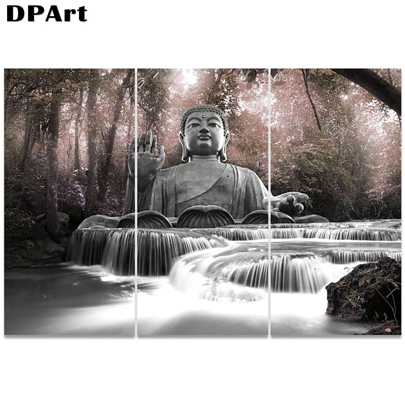 3PCS Diamond Painting 5D Full Square/Round Drill Buddha Religion Daimond Embroidery Painting Cross Stitch Mosaic Picture M979(China)