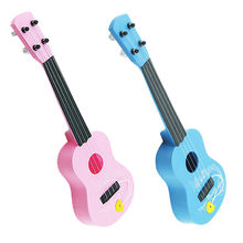 Mini Kid's 4 String Acoustic Guitar Wisdom Musical Development Simulation Toy Guita Nice Xmas Gift Random Color