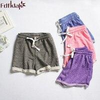 Женские пижамные штаны 2017 летние новые хлопковые Пижамные шорты с завязками штаны для сна фиолетовые/розовые Пижамные брюки Q349